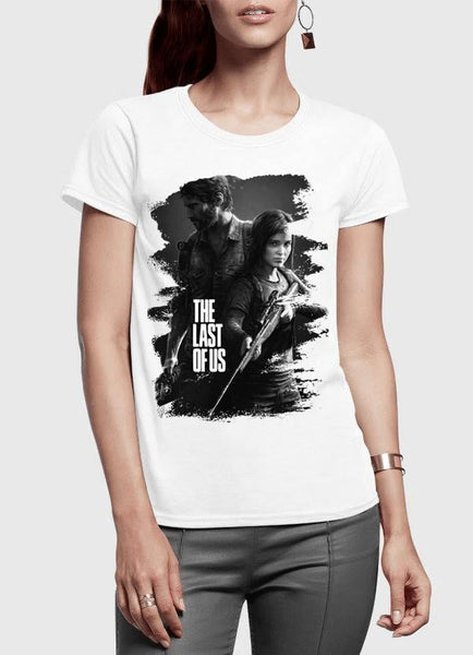 M Nidal Khan T-shirt SMALL / White Last of Us Half Sleeves Women T-shirt