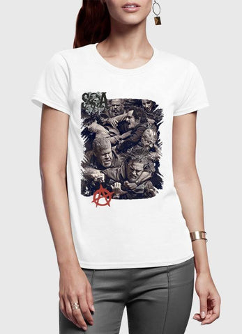 M Nidal Khan T-shirt Sons on Anarchy Half Sleeves Women T-shirt