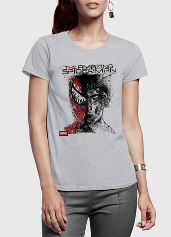 M Nidal Khan T-shirt Spider Man Half Sleeves Women T-shirt