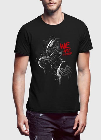 M Nidal Khan T-shirt We are Venom Half Sleeves T-shirt