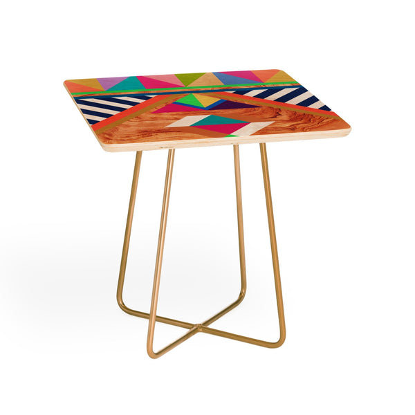 Maham Ali Side Table GREEN WOODY SIDE TABLE