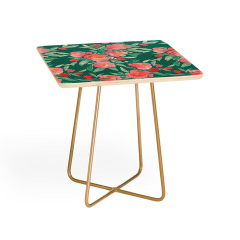 Maham Ali Side Table WATER COLOR FLORAL SIDE TABLE