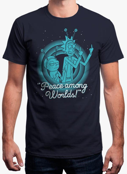 Maham T-SHIRT PEACE AMONG WORLDS - RICK AND MORTY T-SHIRT