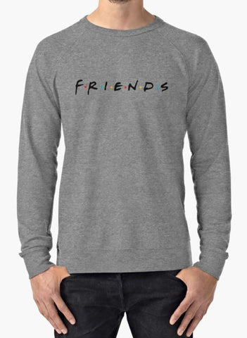 Manahil Sweat Shirt Friends (TV Show) Gray Sweat Shirt