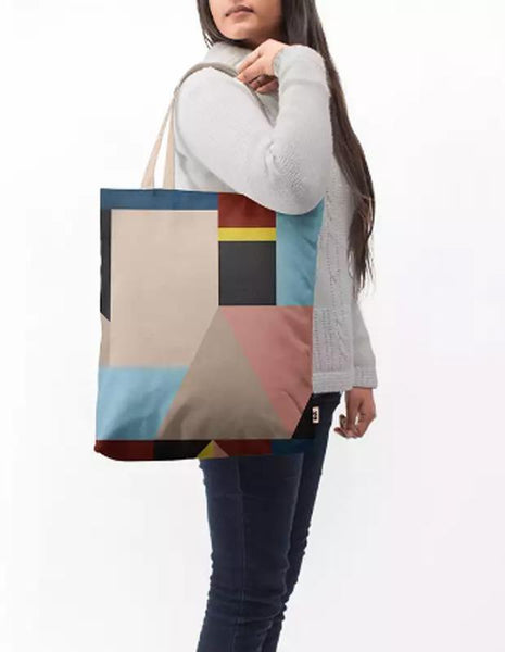 Manahil tote bag Abstract Geometrical Shapes Baesic Tote Bag