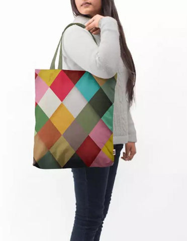 Manahil tote bag Coloured Dots Baesic Tote Bag