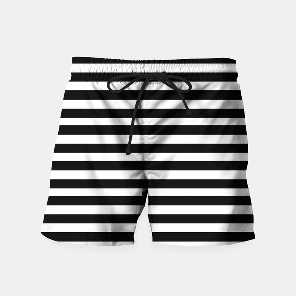 Maria Shorts Black Stripes Seamless Pattern Swim Shorts