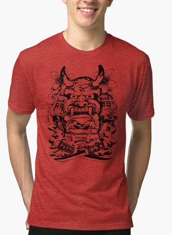 Mehreen Syed T-SHIRT Japanese demon Red Malange T-shirt
