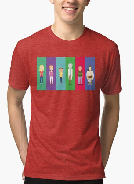 Mehreen Syed T-SHIRT Rick and Morty - Minimalists Red Malange T-shirt