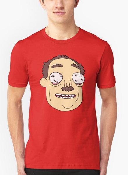 Mehreen Syed T-SHIRT Rick & Morty - Ants In My Eyes Johnson Red Malange T-shirt