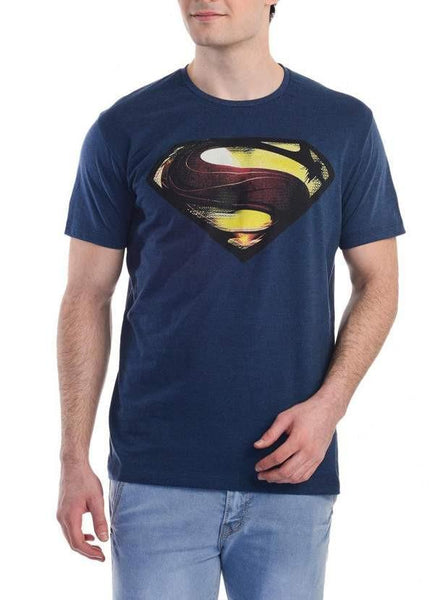 Misha Shafiq T-SHIRT Man Of Steel Men Of Steel Blue Half Sleeve Men T-Shirt