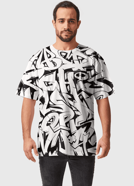 Naheed T-SHIRT ALPHABETZ  ALL OVER PRINTED MEN T-SHIRTS