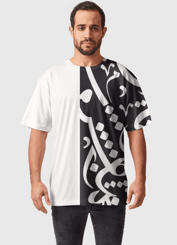 Naheed T-SHIRT ARAB CALLIGRAPHY  ALL OVER PRINTED MEN T-SHIRTS