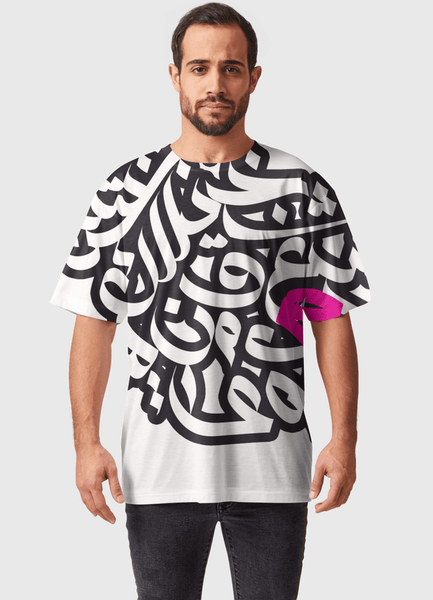Naheed T-SHIRT ARABIC GRAFFITI ALPHABET  ALL OVER PRINTED MEN T-SHIRTS