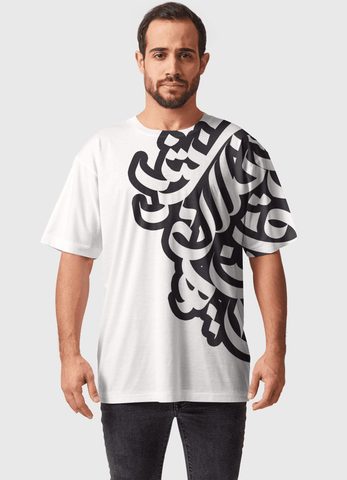 Naheed T-SHIRT B&W DIGITAL ALPHABET  ALL OVER PRINTED MEN T-SHIRTS