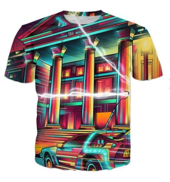 Naheed T-SHIRT Glowing City  ALL OVER PRINTED MEN T-SHIRTS