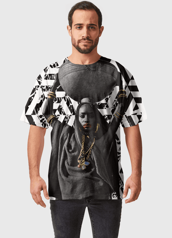 Naheed T-SHIRT GOD BLESS AFRICA  ALL OVER PRINTED MEN T-SHIRTS