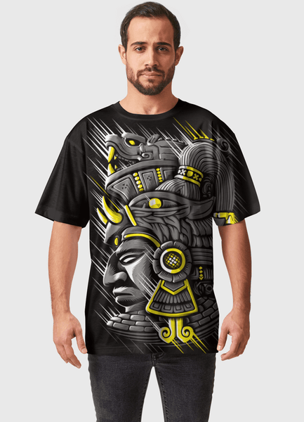 Naheed T-SHIRT GOLDEN AZTEC  ALL OVER PRINTED MEN T-SHIRTS