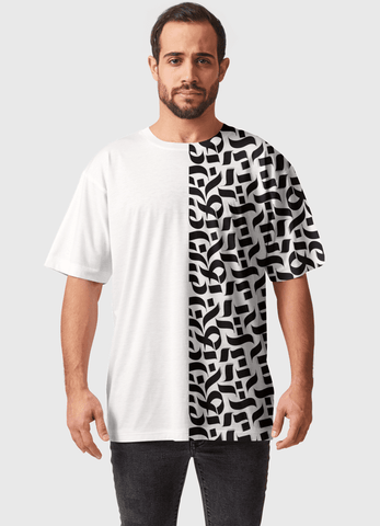 Naheed T-SHIRT HALF PATTERN ALL OVER PRINTED MEN T-SHIRTS