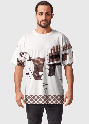 Naheed T-SHIRT HISTORIC JEDDAH  ALL OVER PRINTED MEN T-SHIRTS