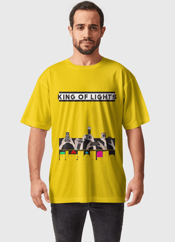 Naheed T-SHIRT KING OF LIGHTS  ALL OVER PRINTED MEN T-SHIRTS