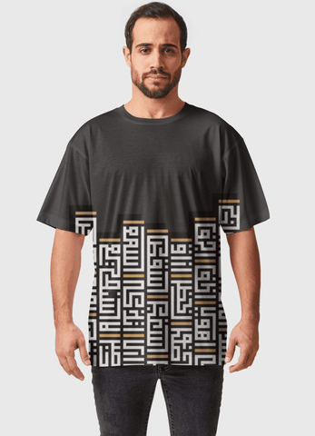 Naheed T-SHIRT KUFI RETRO TOUCH  ALL OVER PRINTED MEN T-SHIRTS