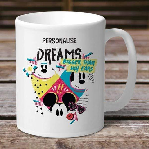 Personalized Mug Personalized Mickey Mouse Bigger Dreams Personalised Mug
