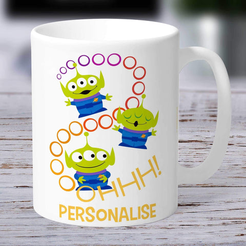 Personalized Mug Personalized Toy Story 4 Personalised Aliens Ooohh Ceramic Mug