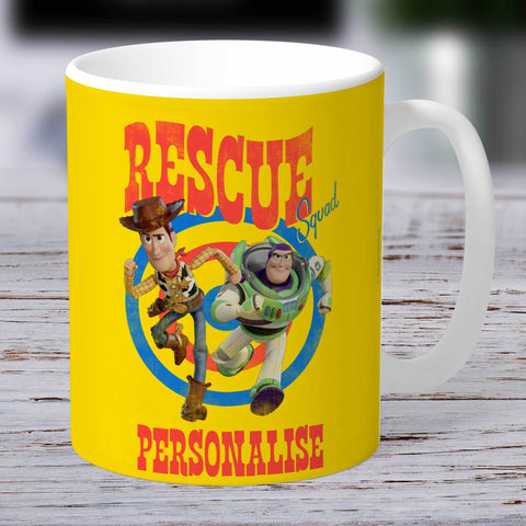 Personalized Mug Personalized Toy Story 4 Personalised Rescue Squad Ceramic Mug