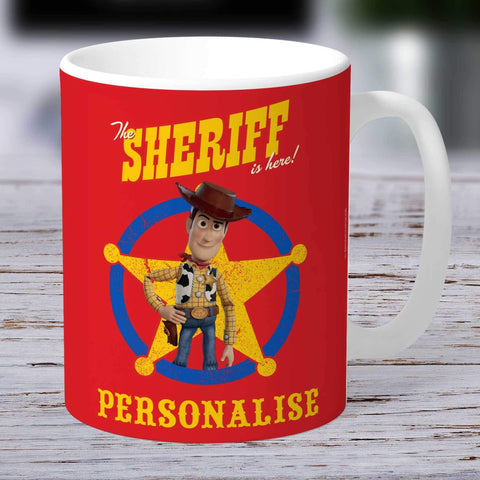 Personalized Mug Personalized Toy Story 4 Personalised Sheriff Is Here Ceramic Mug