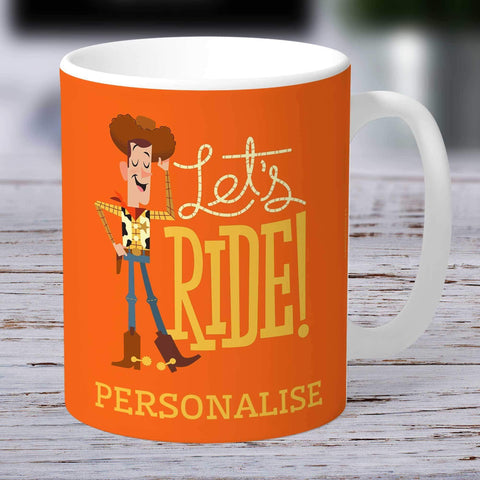 Personalized Mug Personalized Toy Story 4 Personalised Woody Let's Ride Ceramic Mug