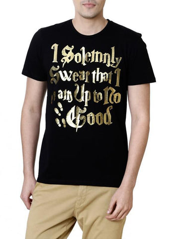 Ramsha T-SHIRT Harry Potter No Good Black Half Sleeves Men T-Shirt