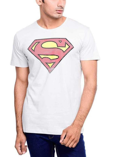 Ramsha T-SHIRT Superman Power Up Grey Half Sleeve Men T-Shirt