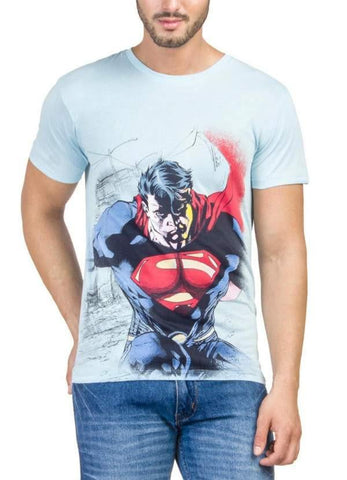 Ramsha T-SHIRT Superman Rage Blue Half Sleeve Men T-Shirt