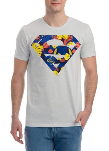 Ramsha T-SHIRT Superman Super Stylish White Half Sleeve Men T-Shirt