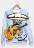 Sadaf Hamid Sweat Shirt MEXICAN CAT Fitted Waist Sweater Women