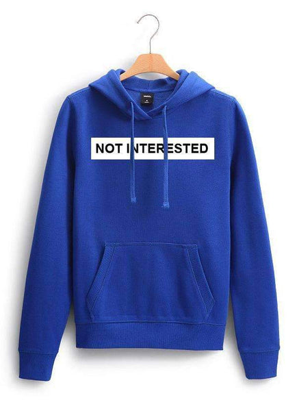 Sadaf Hamid Sweat Shirt NOT INTERESTED WOMEN HOODIE