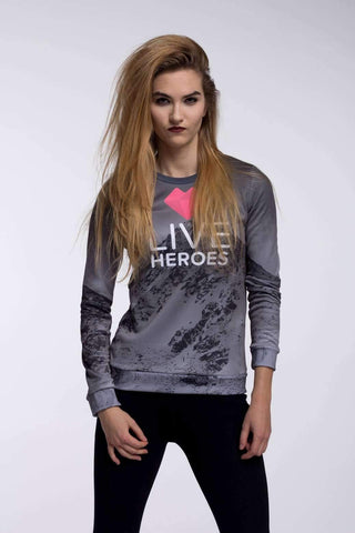 Sadaf Hamid Sweat Shirt Pineapple love Fitted Waist Sweater Women