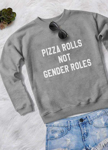 Sadaf Hamid Sweat Shirt PIZZA ROLLS WOMEN SWEAT SHIRT
