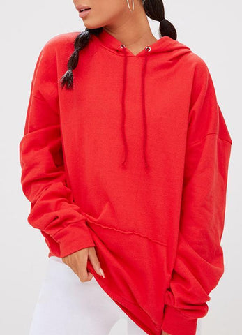 Sadaf Hamid Sweat Shirt RED WOMEN HOODIE
