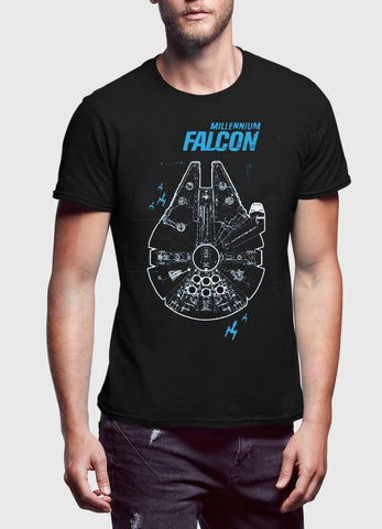 STAR WAR T-SHIRT MILLENNIUM FALCON