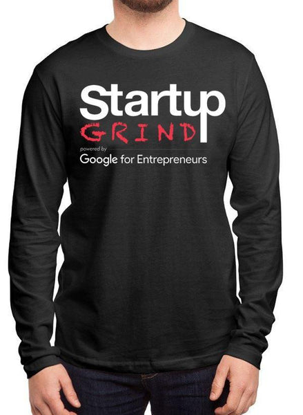StartupGrind T-shirt Startup Grind Black Long Sleeves Round Neck