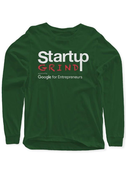 StartupGrind T-shirt Startup Grind Green Long Sleeves Round Neck