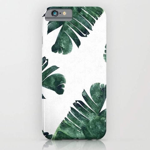 Threadless Mobile Cover Banana Leaf Watercolor Pattern Mobile Cover