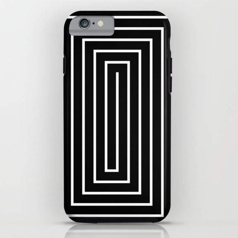 Threadless Mobile Cover Black & White Spiral Mobile Cover
