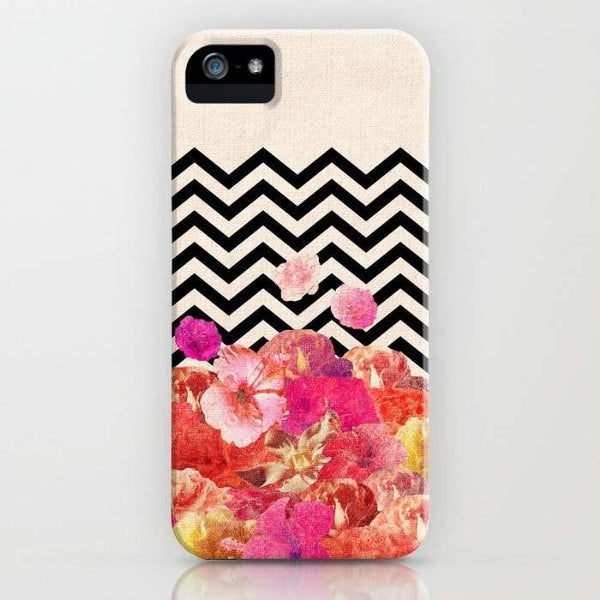 Threadless Mobile Cover Chevron Flora II Mobile Cover