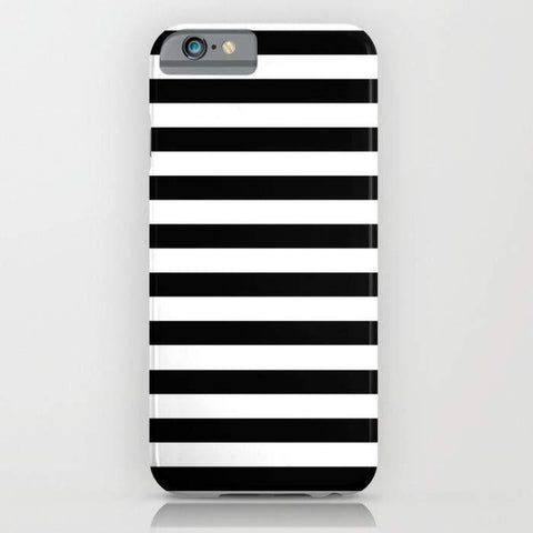 Threadless Mobile Cover Modern Black White Stripes Monochrome Pattern Mobile Cover