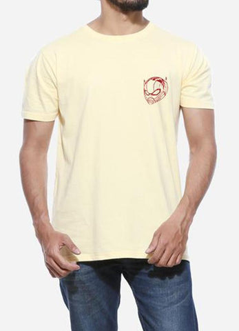 Tipu Sultan T-shirt Ant Man Helmet - Lemon Yellow Men's Superhero Half Sleeve Pocket Print T Shirt
