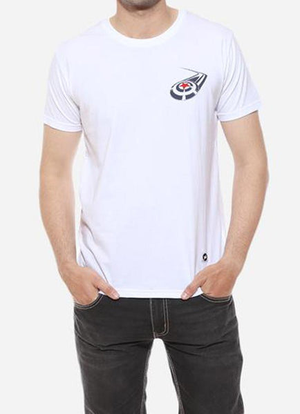 Tipu Sultan T-shirt Cap Shield - White Men's Superhero Half Sleeve Pocket Print T Shirt