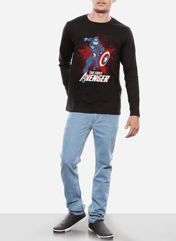Tipu Sultan T-shirt Captain America Classic Avenger Full Sleeves T-shirt